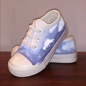 Other - Hand Painted Cloud Sneakers